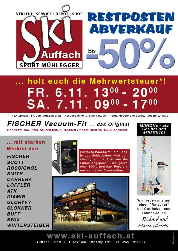 Ski Sport Mühlegger Auffach – Restposten-Abverkauf zu tollen Preisen ...