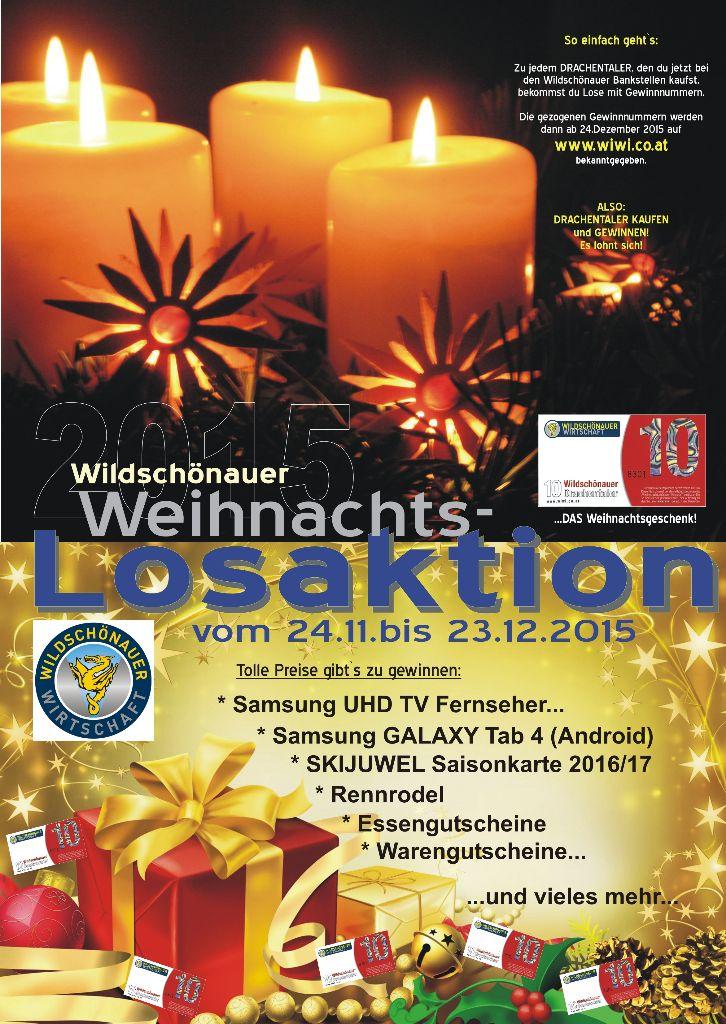 Weihnachtslosaktion 2015