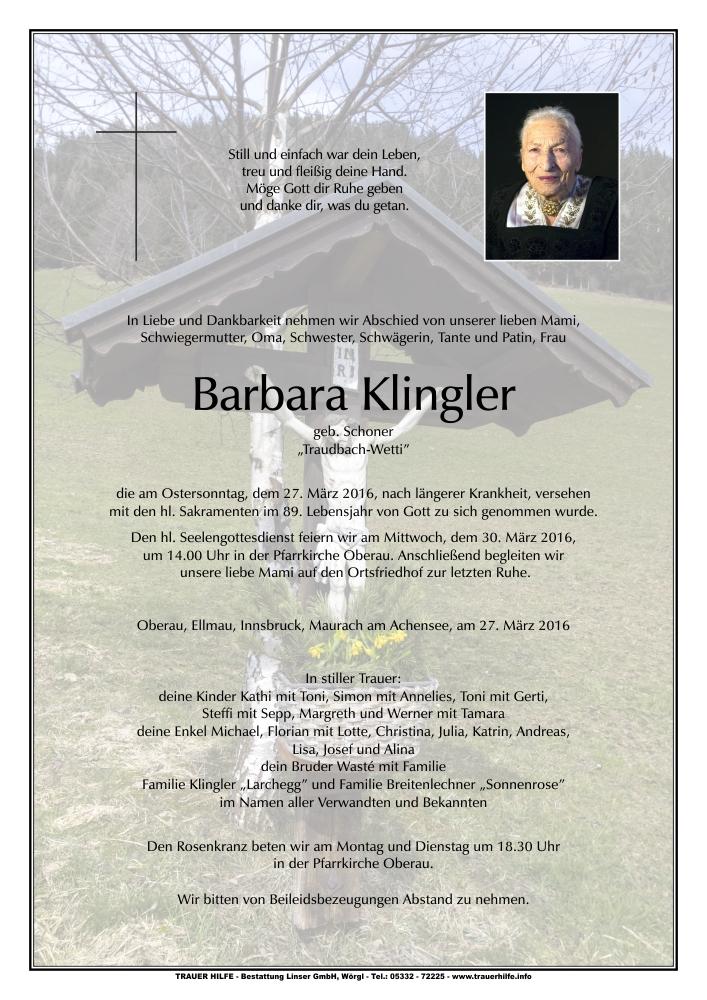 Klingler Barbara