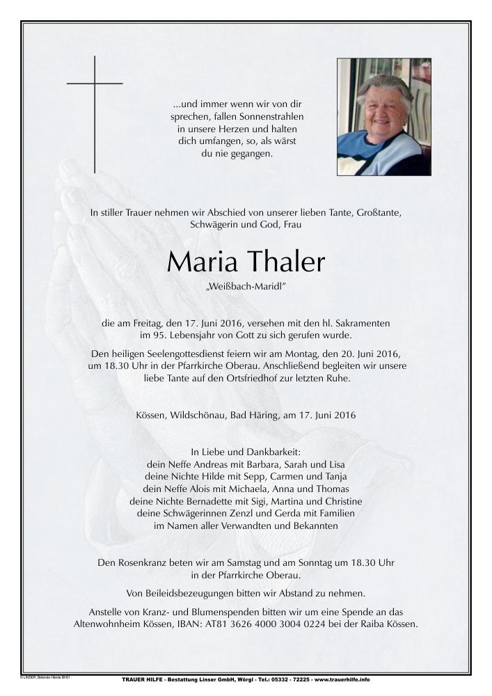 Thaler Maria