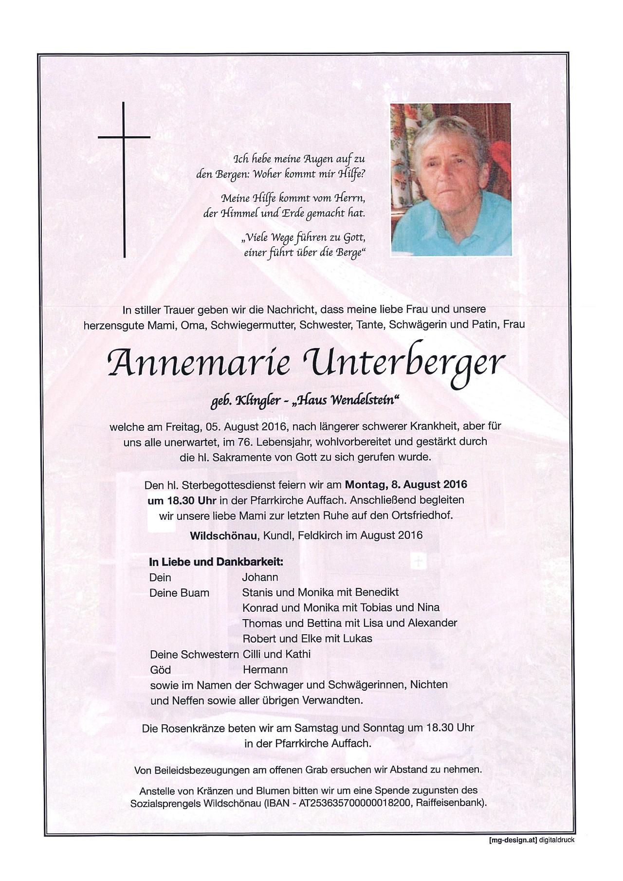 Annemarie Unterberger