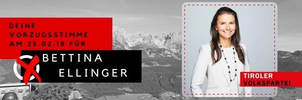 Bettina Ellinger, Ihre Kandidatin im Bezirk Kufstein